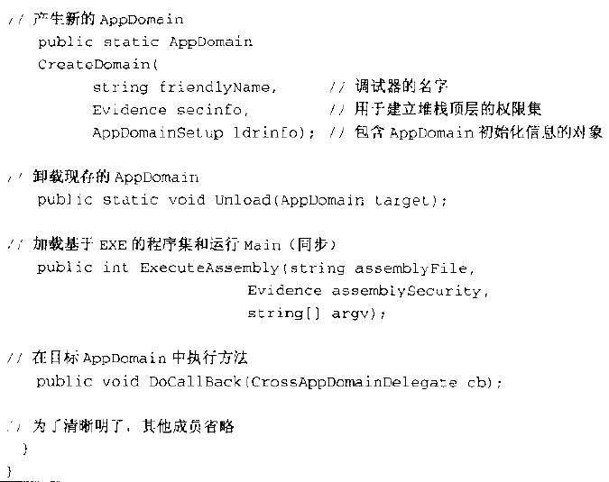 示例8.1System.AppDomain(节选)